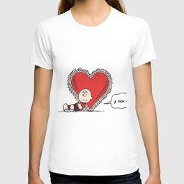 Snoopy sad valentine T-shirt