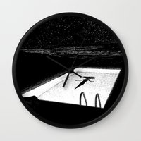 apollonia Wall Clocks featuring asc 593 - Le silence des cigales (The midnight lights) by From Apollonia with Love