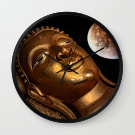 Restful Buddha Wall Clock