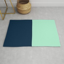 Sailor Blue and Mint  Rug