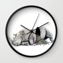 Rhino Slumber Wall Clock