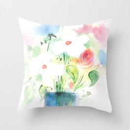 Watecolor Bouquet Throw Pillow