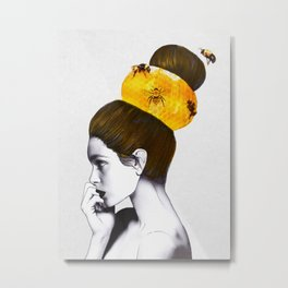 The Bee Hive Metal Print