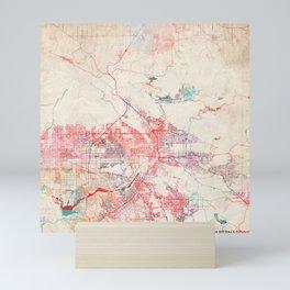 San Bernardino map California painting Mini Art Print
