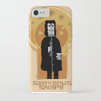 snape iPhone & iPod Cases featuring Serverus Snape by Nerd Literature