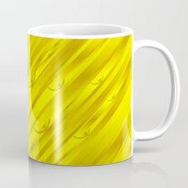 yellow abstract pattern in metal Coffee Mug