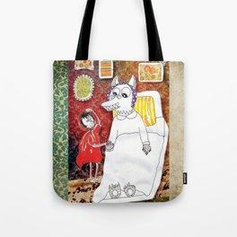 Girl & Wolf Tote Bag