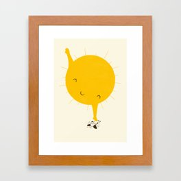 Belly Rub Framed Art Print