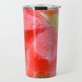Mottled Red Poinsettia 1 Ephemeral Serene Travel Mug