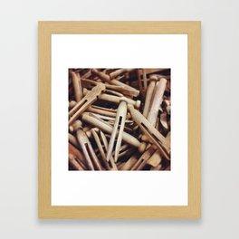 Wooden Pin-Up Framed Art Print