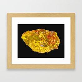 Cady Mountain Yellow Plume Agate Framed Art Print