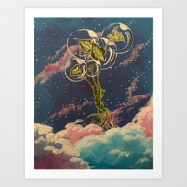 Homegirl Goes to Outer Space Art Print