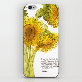 Light of the World - Sunflowers iPhone Skin
