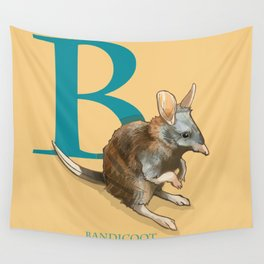 """B is for Bandicoot"": The UnderAppreciated Animals™ series Wall Tapestry"
