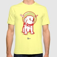 Space Puppy Lemon Mens Fitted Tee SMALL