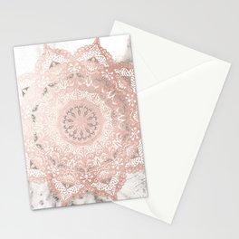 Dreamer Mandal Rose Gold Stationery Cards