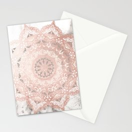 Dreamer Mandal Rose Gold Stationery Cards