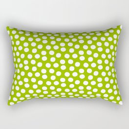 White Polka Dots on Fresh Spring Green - Mix & Match with Simplicty of life Rectangular Pillow
