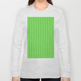 Lime Green Retro Squares Long Sleeve T-shirt