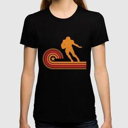 Retro Style Running Back Silhouette Football T-Shirt T-shirt