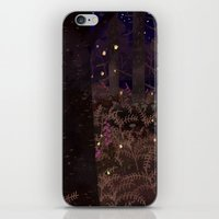 fireflies iPhone & iPod Skins featuring fireflies by Lara Paulussen