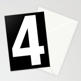 Lucky number: 4 Stationery Cards