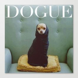 Dogue Canvas Print