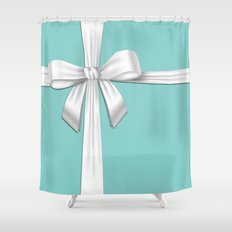 Blue Tiffany Box Shower Curtain