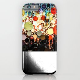 Abstract Retro Blue Orange Bubble Design iPhone Case