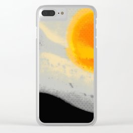 Bright Sunset with Dots Clear iPhone Case