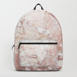 Marble with Rosegold Veinings (ix 2021) Backpack