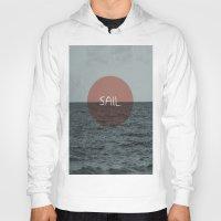 sail Hoodies featuring Sail by Carla Talabá