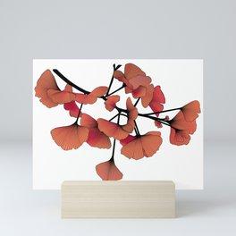 Gingko Red Mini Art Print