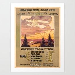 retro iconic Franco-Roumanie poster Art Print
