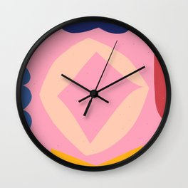 Pattern with Abstract colorful Shapes Wall Clock