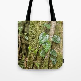 Vine and Moss on Tree in the Rainforest Tote Bag