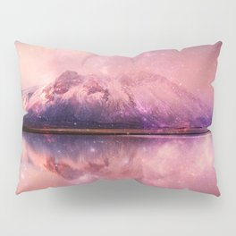 Reflections of Time - mountains and lakes Pillow Sham