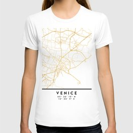 VENICE ITALY CITY STREET MAP ART T-shirt