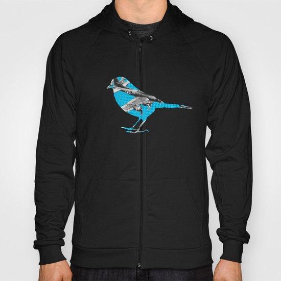Blue Bomber Bird Hoody
