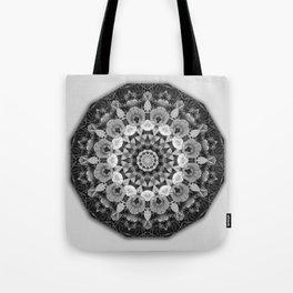 Tulips black and white, mandala style Tote Bag