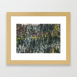And Then...an Acrylic Abstact Painting Framed Art Print