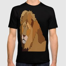African Lion Black Mens Fitted Tee MEDIUM