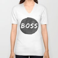 boss V-neck T-shirts featuring Boss by autumnstar09