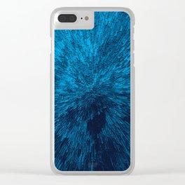 Bold Burst in Blue Clear iPhone Case