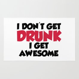 Get Awesome Funny Quote Rug
