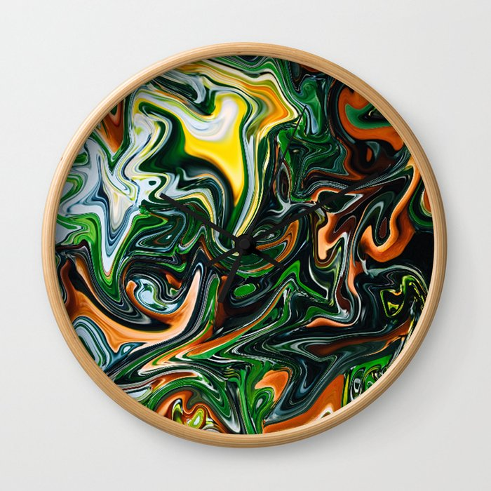 Citrus Jungle Wall Clock