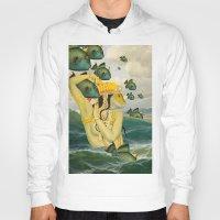 mermaid Hoodies featuring MERMAID by Julia Lillard Art