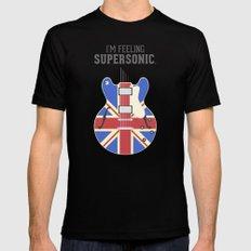 Supersonic MEDIUM Black Mens Fitted Tee