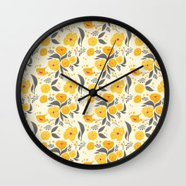 Marigold Mayhem Wall Clock
