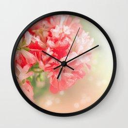 Pelargonium . Morning. Wall Clock